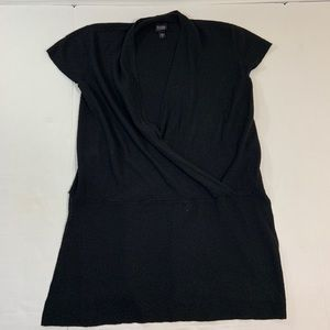 Eileen Fisher Wool Wrap Top Tunic Blouse M